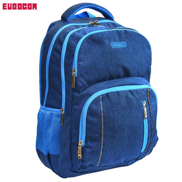 Eurocom - Ученическа раница Street Colour Blue 53749