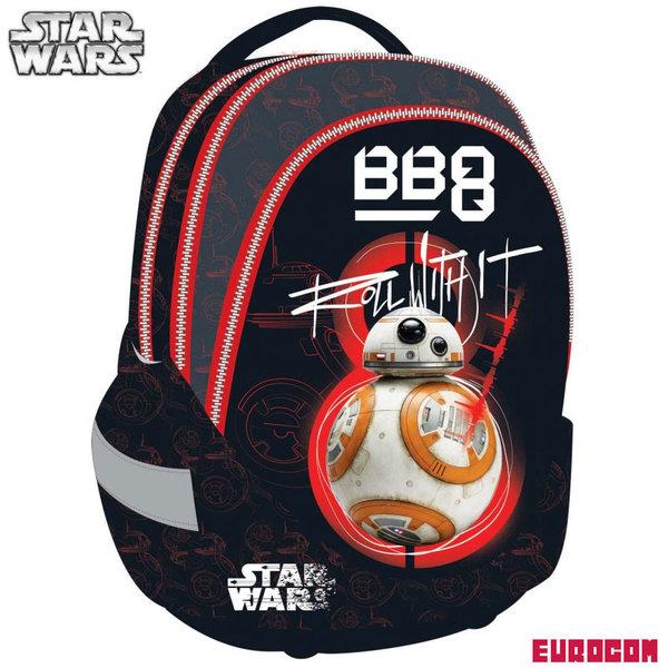 Eurocom Star Wars - Ученическа ергономична раница Междузвездни войни BB-8 230815