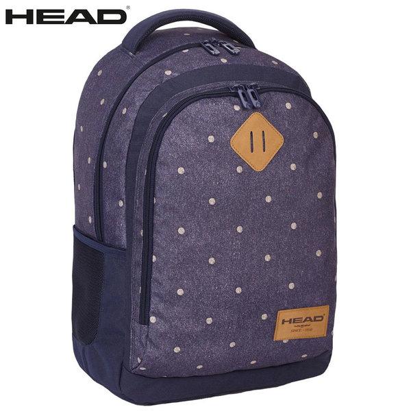 Head - Ученическа ергономична раница HD-33 Dark Denim Dots 502017044