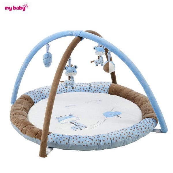 My Baby - Бебешка активна гимнастика синьо жирафче 0372210