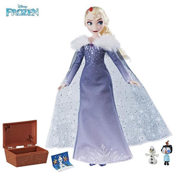Disney Frozen - Кукла Елза с празничен тоалет и аксесоари c3382