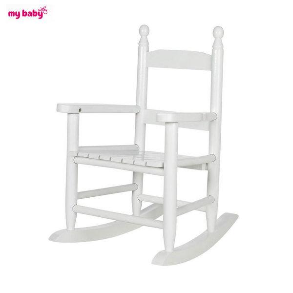 My Baby - Детско дървено люлеещо се столче 1072210