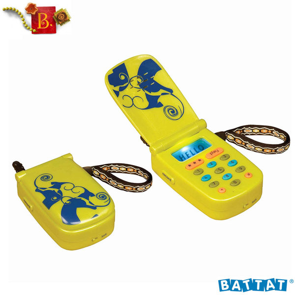 1B.Toys - Детски телефон със звук, светлина и запис Hellophone BX1030Z