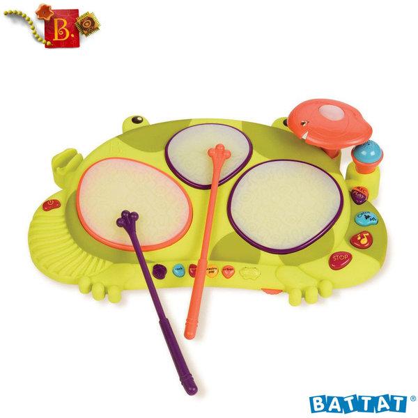 1B.Toys - Детски музикален инструмент със светлинни ефекти Ribbit-tat-tat™ BX1389Z