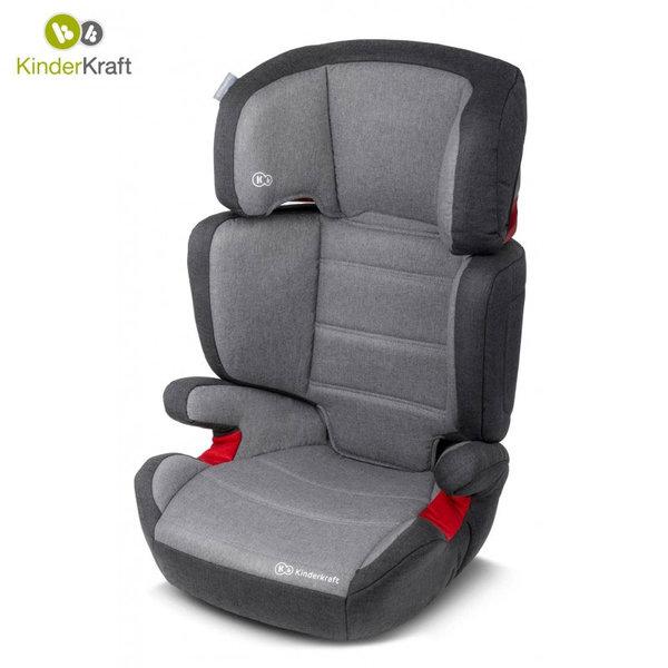 KinderKraft - Столче за кола Junior Plus 15-36кг сиво 22203