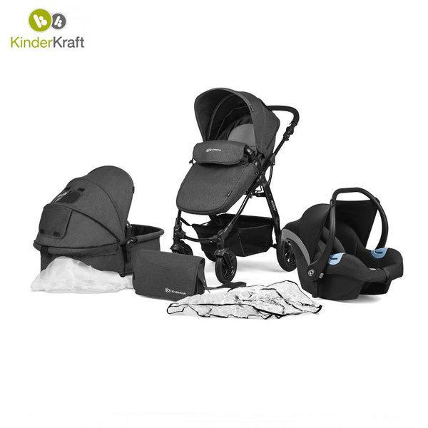 Kinderkraft - Бебешка количка Moov 3в1 черна 22202