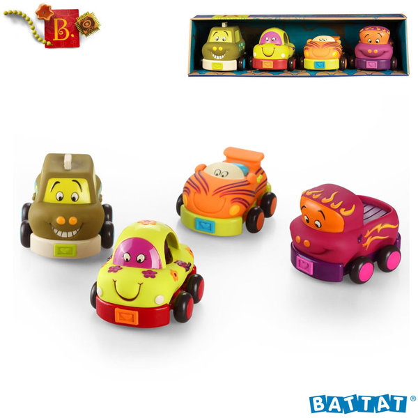 B.Toys - Комплект мини колички Wheeee-ls!™ Pull&Go BX1048Z