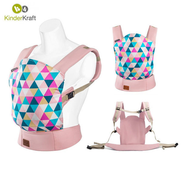 KinderKraft - Кенгуру за бебе NINO розово 22206