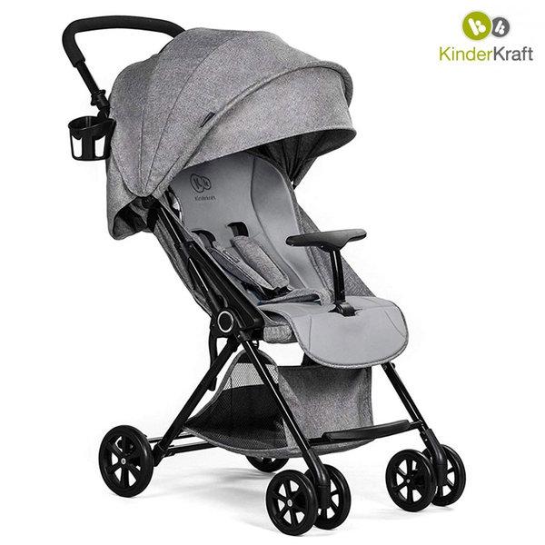 KinderKraft - Бебешка лятна количка LITE сива 22237