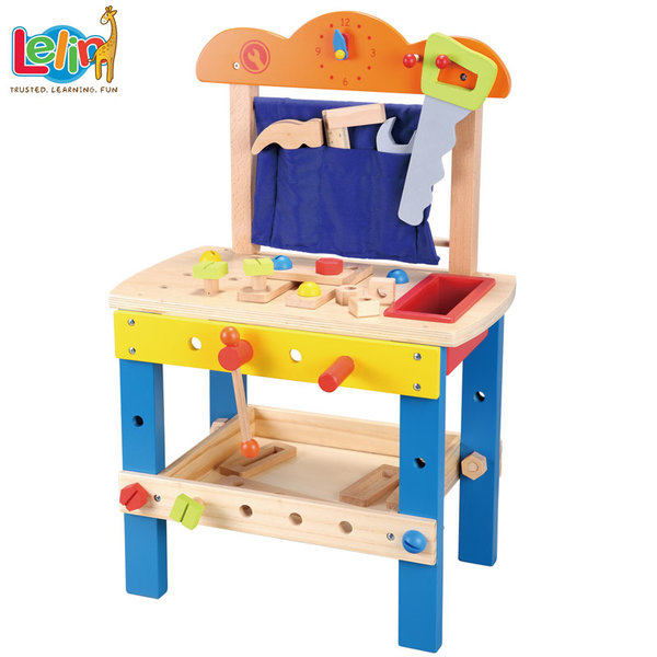 Lelin Toys Дървена работилница с инструменти 10157