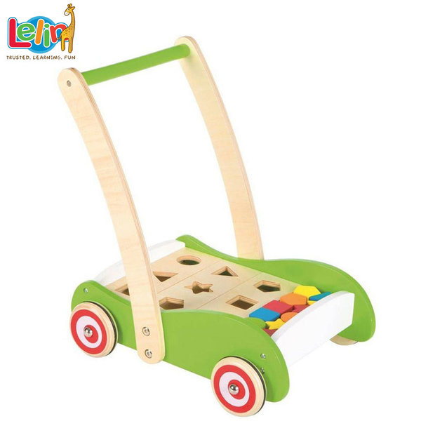 Lelin Toys - Дървена проходилка с форми за сортиране10208