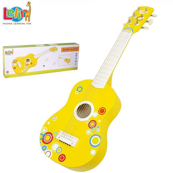 Lelin Toys Дървена детска китара балони 21009