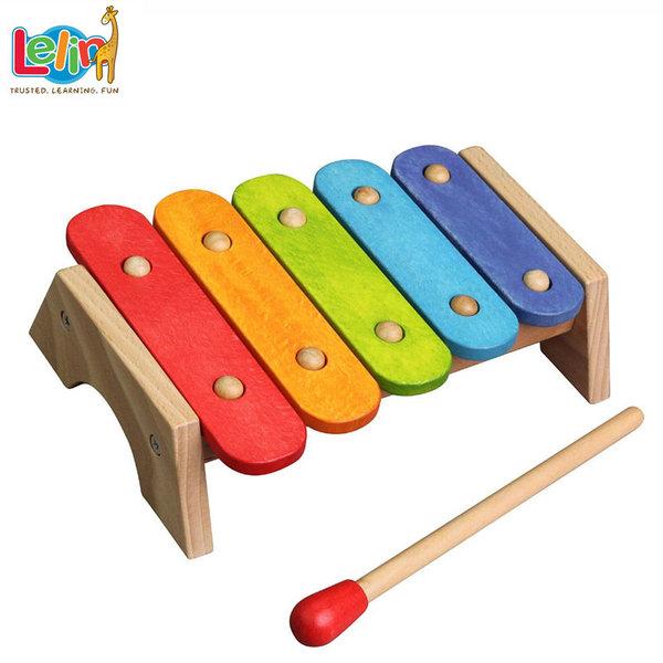 Lelin Toys Дървен бебешки ксилофон 20028