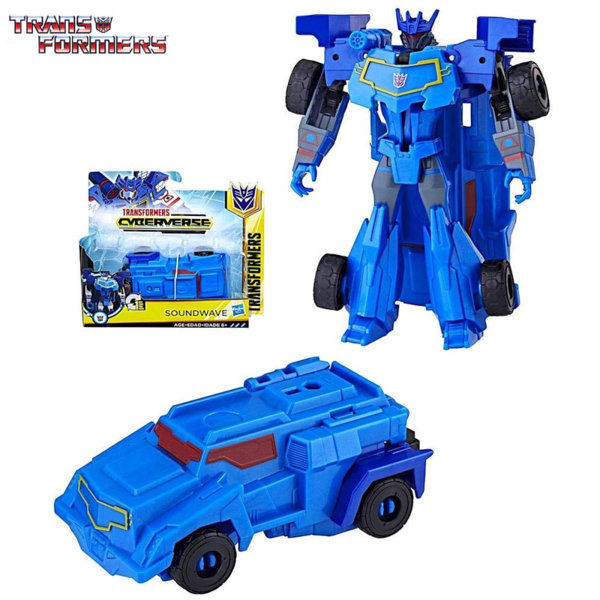 Transformers - Трансформърс Cyberverse 1-Step Soundwave E3522