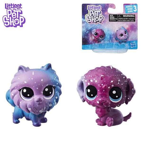 Littlest Pet Shop - Комплект малки домашни любимци 2бр. Cosmic Pounce BFFS кучета e2128