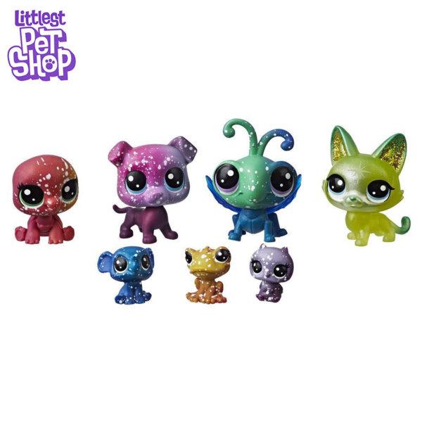 Littlest Pet Shop - Комплект малки домашни любимци 7бр. Cosmic Космически приятели e2129/e2253