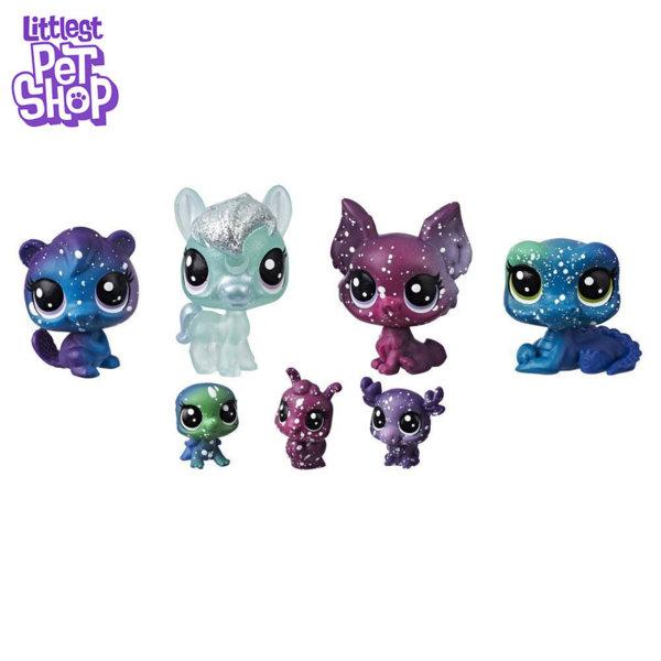Littlest Pet Shop - Комплект малки домашни любимци 7бр. Cosmic Космически приятели e2129/e2252