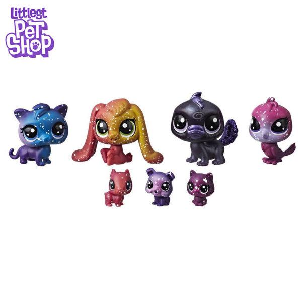 Littlest Pet Shop - Комплект малки домашни любимци 7бр. Cosmic Космически приятели e2129/e2254