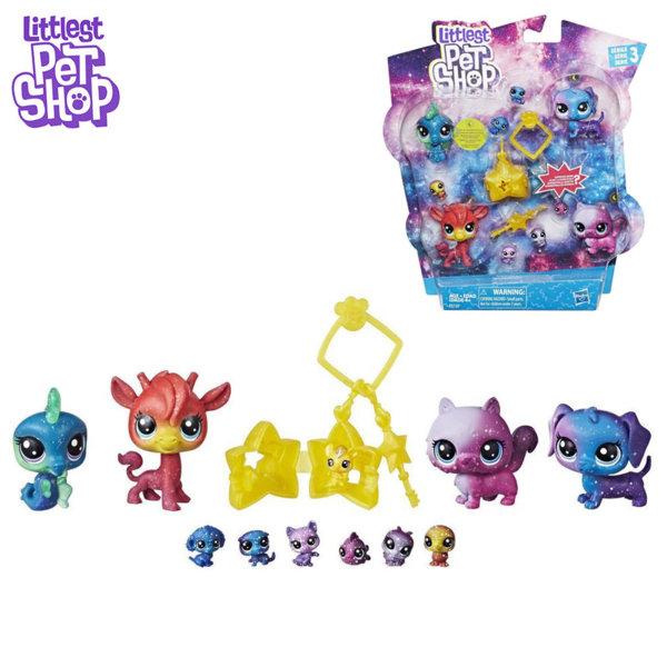 Littlest Pet Shop - Комплект малки домашни любимци Cosmic Колекция Космически приятели e2130