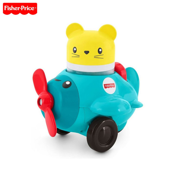 Fisher Price - Занимателна играчка Press & Rattle Racers™ Самолет с пилот FVC74