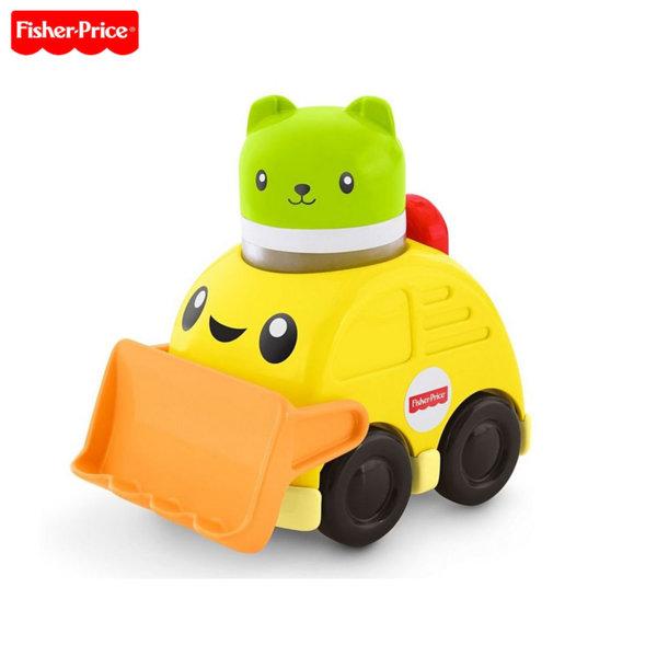 Fisher Price - Занимателна играчка Press & Rattle Racers™ Булдозер с шофьор FVC74