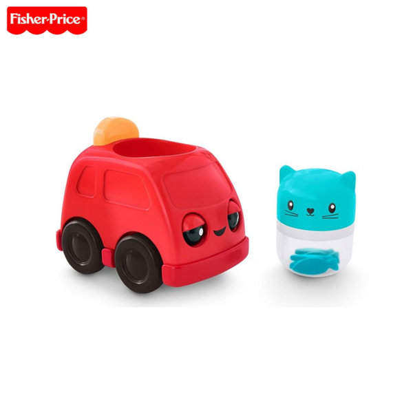 Fisher Price - Занимателна играчка Press & Rattle Racers™ Количка с шофьор FVC74