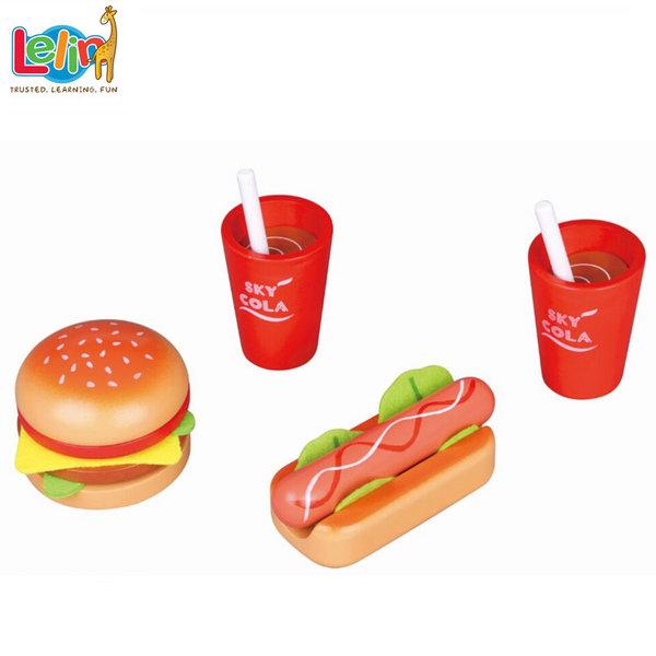 Lelin Toys - Детски комплект Обяд за двама 40152