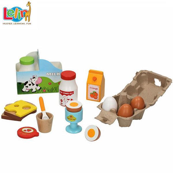 Lelin Toys - Дървени продукти за закуска 40069
