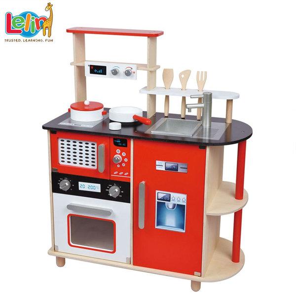 Lelin Toys - Детскa дървенa кухня 40083
