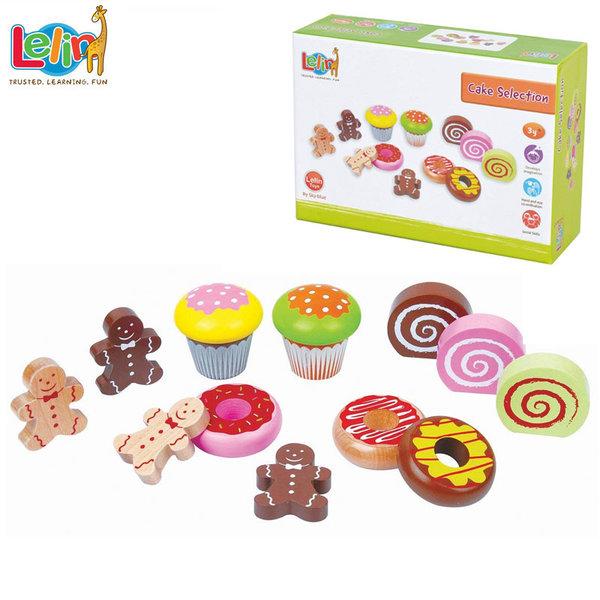 Lelin Toys - Комплект дървени сладкиши 40057