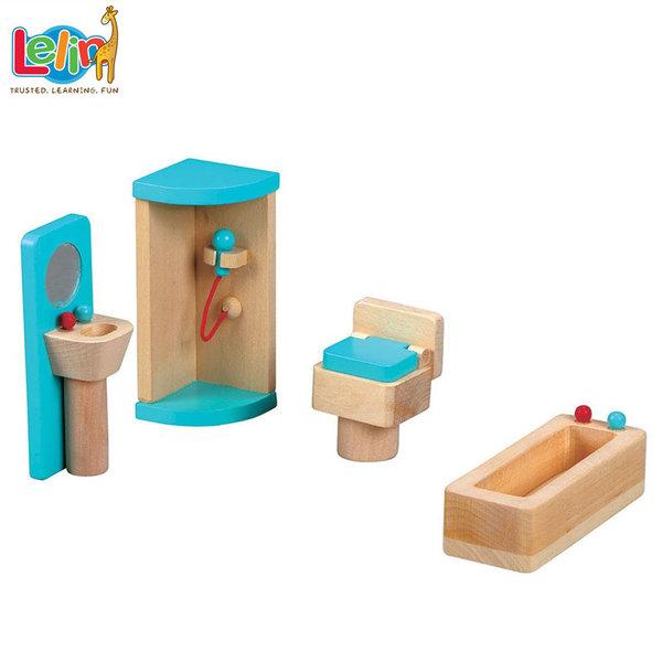Lelin Toys Мебели за куклена къща Баня 50022