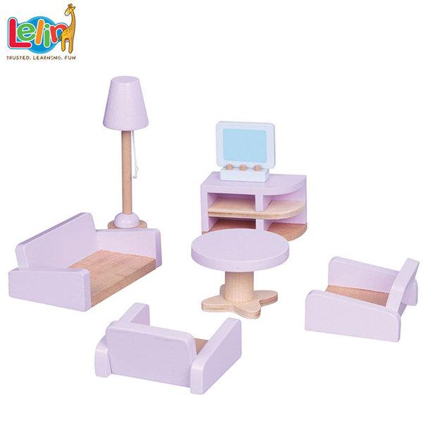 Lelin Toys Мебели за куклена къща Хол 50122