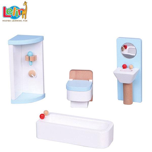 Lelin Toys Мебели за куклена къща Баня 50124