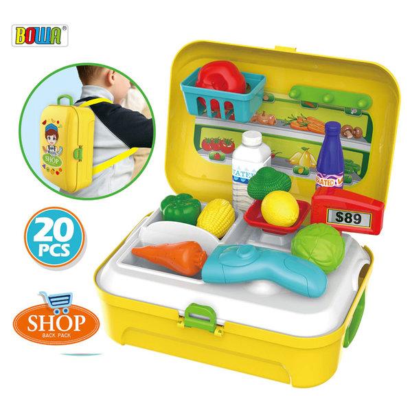 Bowa - Раница куфарче с детски магазин за плодове и зеленчуци 8741