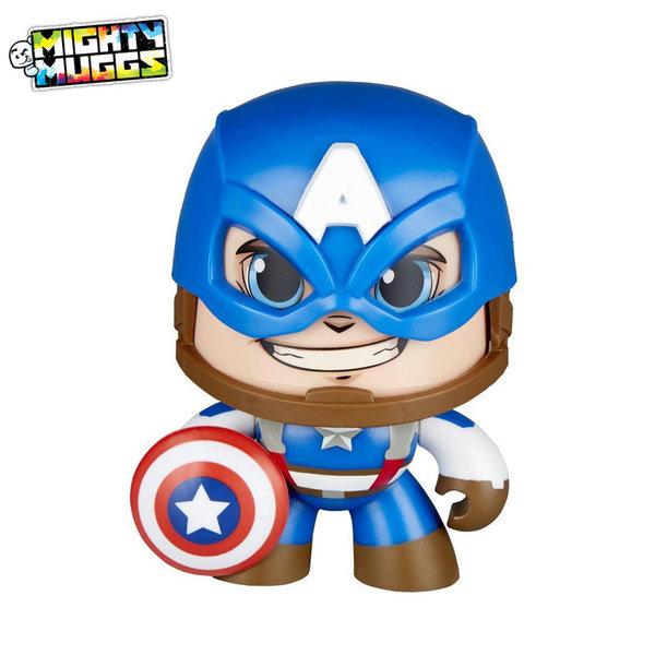 Hasbro Marvel - Мини фигура с гримаса Captain America E2122