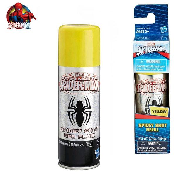 Hasbro - Spider Man Флакон с паяжина жълт b9761