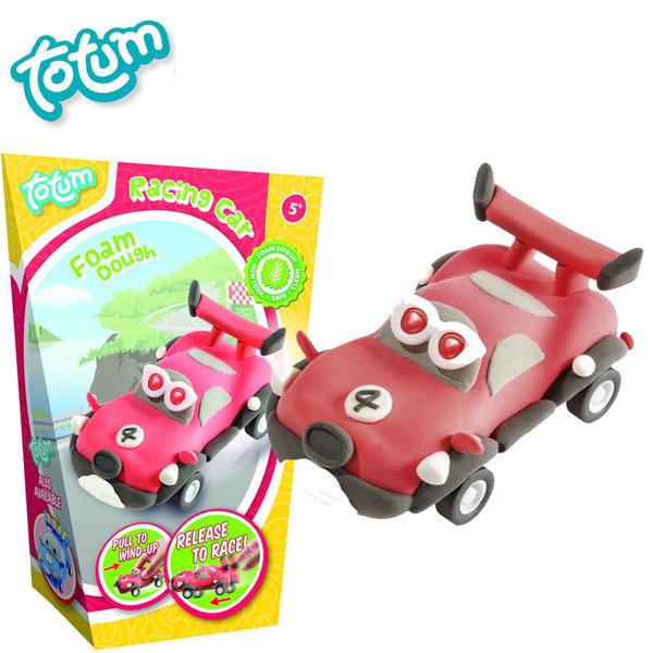 Totum - Направи сам кола от пластилин червена 25370