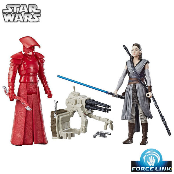 1Hasbro Star Wars Force Link - Екшън фигури Rey & Elite Praetorian Guard c1242