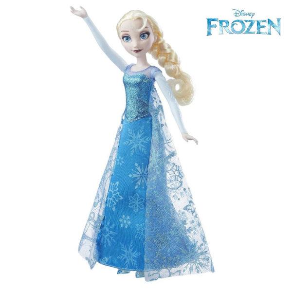 Disney Frozen - Kукла Елза с музикална и светеща рокля B6173
