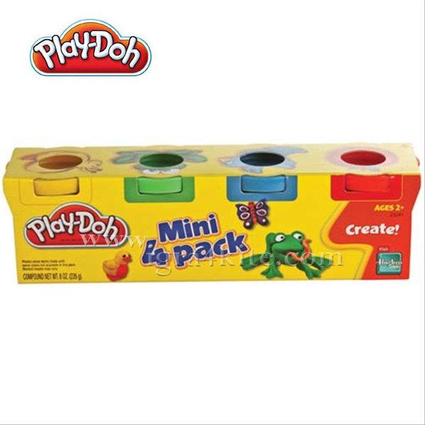 PlayDoh - Комплект 4 цвята пластилин 23241