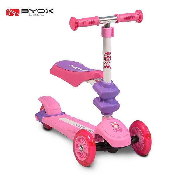 1Byox Bikes - Детска тротинетка 2в1 Pop розова 103470
