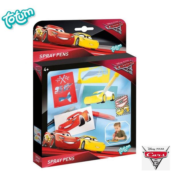 Totum Disney Cars - Нарисувай Колите със спрей химикалки 140097