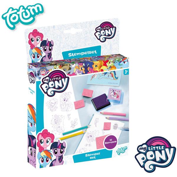 Totum My Little Pony - Комплект за рисуване с печати Моето малко пони 130142