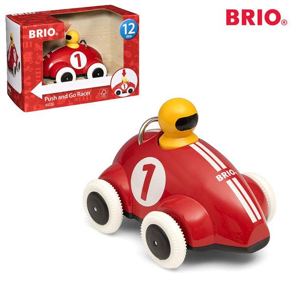 1Brio - Дървена количка Push & Go Racer 30226