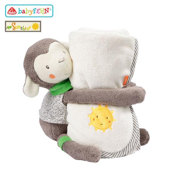 Baby Fehn Sunshine - Плюшена играчка Овца с одеялце за детето 61178