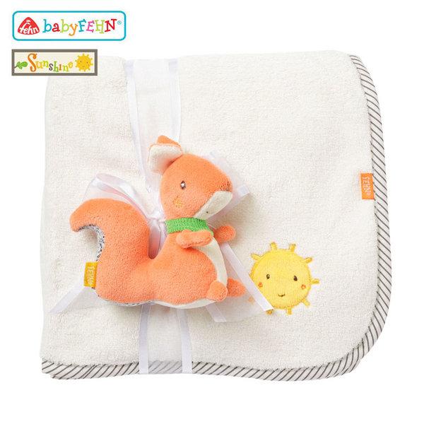 Baby Fehn Sunshine - Бебешко одеяло с плюшена играчка Катеричка 61185