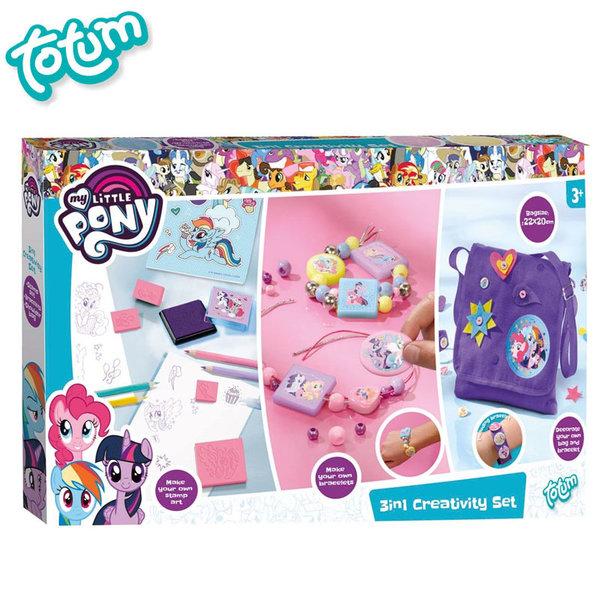 Totum My Little Pony - Креативен комплект Моето малко пони 3в1 131033