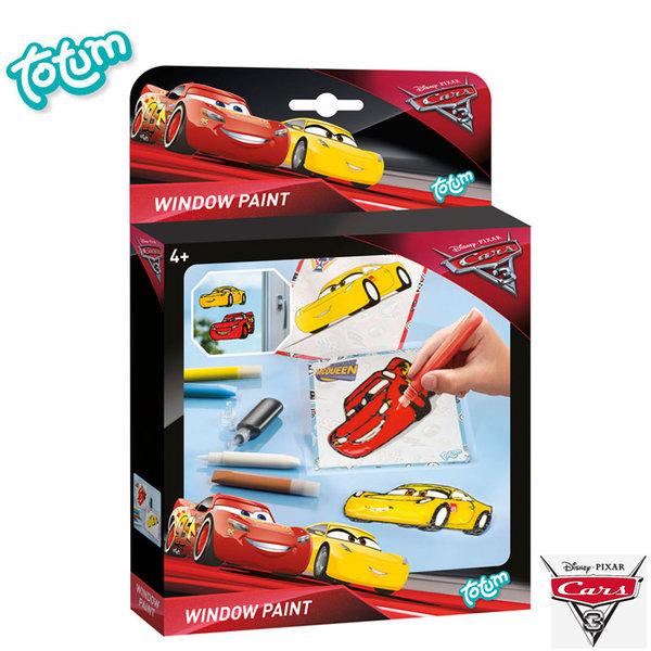 Totum Disney Cars - Детски стикери за стъкло Дисни Колите 140080