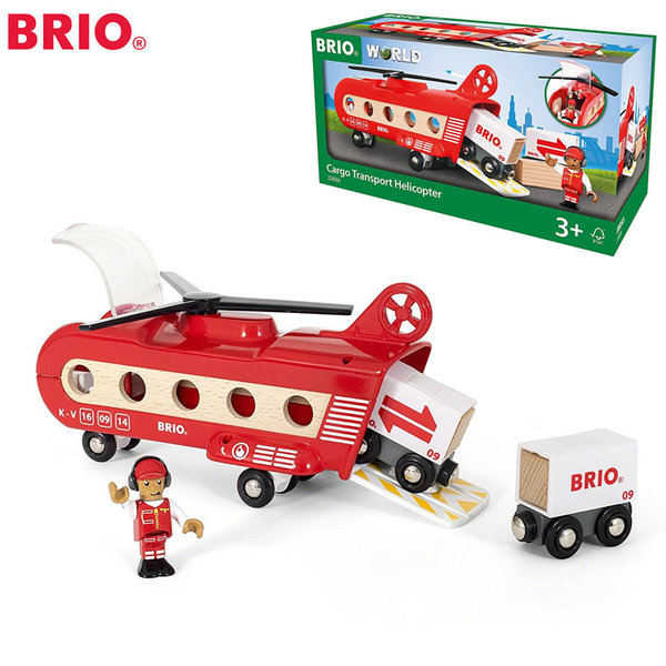 Brio - Дървен карго хеликоптер 33886