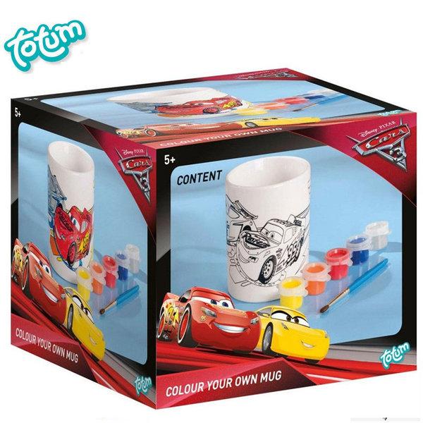 Totum Disney Cars - Оцвети сам чаша Дисни Колите 140127